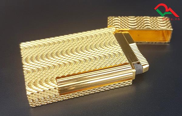 bật lửa dupont mạ vàng
