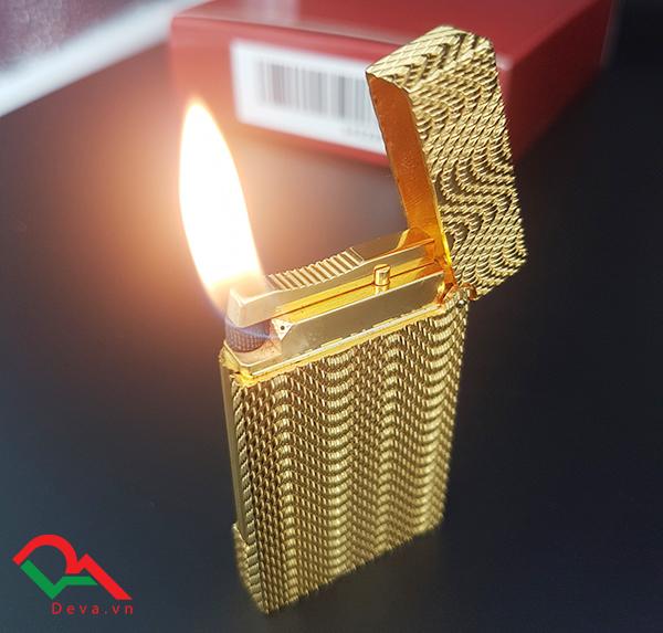 Bật lửa Dupont mini mạ vàng hút tẩu D119